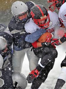 Football snow storm