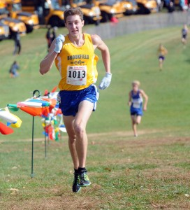 Parker Timmerman of Brookfield paced the field and helped his team capture the class M crown. Mara Lavitt - New Haven Register.