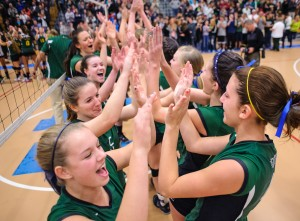 Coventry girls volleyball championship celebration 2012