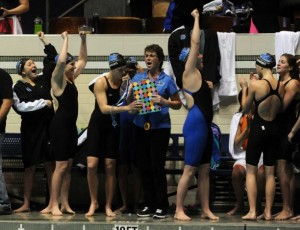 It was a second-straight Open title for the Darien girls swim team. Autumn Driscoll - Hearst Publishing.