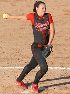 Masuk hurler Tara Buckley earned a spot on the MaxPreps preseason All-America Team. MaxPreps photo by Matt Dewkett.