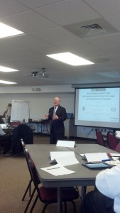 NCS4 Director Lou Marciani addresses the attendees at the Rick Management Pilot Program.