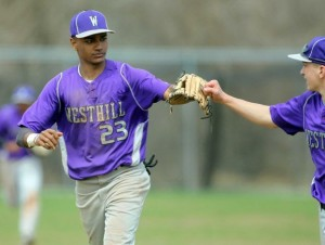 Westhill baseball player Ronald Jackson is back doing what he loves after a year away. J. Gregory Raymond - Stamford Advocate.