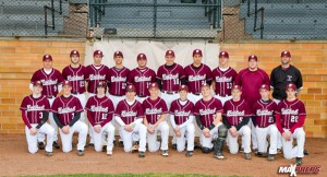 The Bethel baseball team poses at historic Doubleday Field in Cooperstown. MaxPreps photo by William F. Pine