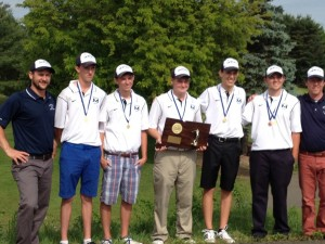 The Morgan boys golf team battled throughout a playoff to defend its state title. Joe Morelli - New Haven Register.
