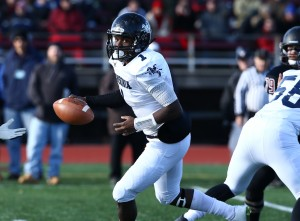 Jaiquan McNight produced a 93-yard scoring run for Ansonia. MaxPreps photo by Richard Massie.