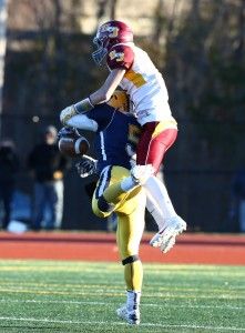St. Joseph's defense stymied high-powered Ledyard to claim a state crown. MaxPreps photo by Richard Massie.