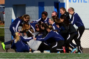 A pile-up was the response from Immaculate after earning the class L girls soccer crown. Christian Abraham - Danbury News Times