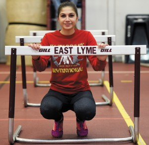Giana Folz is overcoming  fear and excelling for East Lyme. Sean D. Elliot - Norwich Bulletin