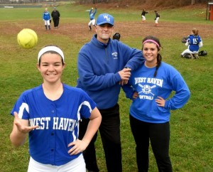 Joe Morrell and his daughters have made West Haven softball a family affair. Peter Hvizdak - New Haven Register.