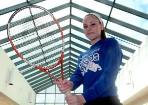 Lyman Memorial athlete Maggie Tarbox has overcome significant health issues. Aaron Flaum - Norwich Bulletin.