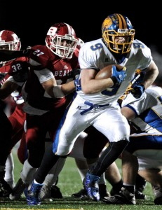 Bobby Drysdale of Brookfield is an intriguing player with the football season approaching. H John Voorhees III - Connecticut Post.