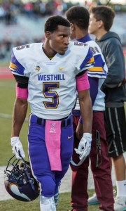 Aaron Pettiford has been an inspirational presence for the Westhill football team. Mark Conrad - Hearst CT Media.