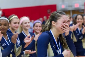 Platt's Gabriela Vazquez reacts to  being chosen MVP after helping her team to the Class L crown. Justin Weekes - Meriden Record-Journal.