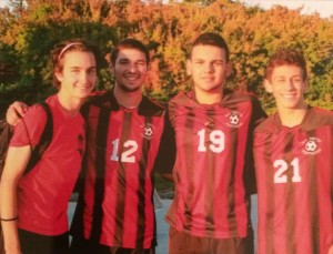 Dylan Randazzo's (#12) soccer career was full of ups and downs.