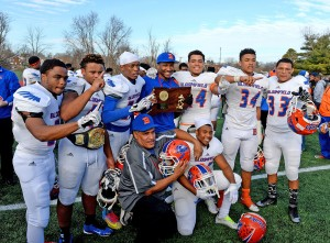 A team effort allowed Bloomfield to celebrate a Class S Championship. Bill Berg - MaxPreps.