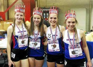 Coginchaug's indoor track relay team earned All-America honors. Jack McShane - Middletown Press.