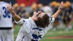 Darien's Hudson Hamil exults in a state championship. Brad Horrign - Hartford Courant.