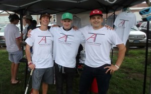 The founders of Athletic Tutoring, working to pass on lessons to high school athletes. New Canaan Advertiser.