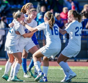 Old Lyme made one goal stand up to earn the Class S girls soccer championship. John Vanacore - New Haven Register.