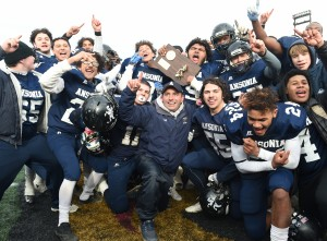 Ansonia celebrates its 20th CIAC football title. Kevin Pataky - MaxPreps.