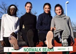 Penda M'Bengue, Frideriki Koletsos, Lily Hadin, and Edona Jakaj have continued the strong Norwalk hurdling trend. John Nash - Norwalk Hour.
